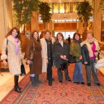 Λιάνα, Δανάη, Έφη, Ιωάννα, Μαρίνα, Αλέκα : Βόλτα στο Chiragan, λίγο πριν την έναρξη του Συνεδρίου, 24-1-2011